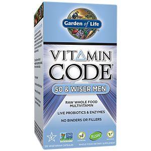 Vitamin Code 50 U0026 Wiser Men (120 Capsules) By Garden Of Life At The Vitamin  Shoppe