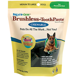 Chewable Brushless Toothpaste For Med.-Large Pets