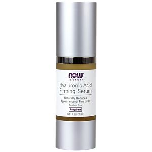 Now Foods, Solutions, Hyaluronic Acid Firming Serum, 1 fl oz(pack of 4) Badger - Certified Organic Cocoa Butter Lip Balm Stick Sweet Orange - 0.25 oz. (pack of 6)