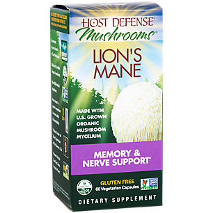 Lion's Mane - Memory & Nerve Support with Organic Mushrooms (60 Vegetarian Capsules)