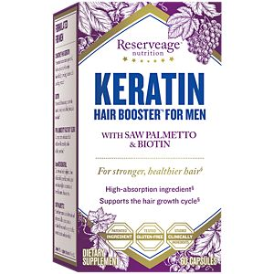Keratin Booster For Men 60 Veggie Caps By Reserveage Nutrition At The Vitamin Pe