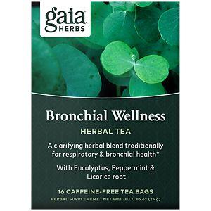 Bronchial Wellness Herbal Tea 20 Bags By Gaia Herbs At The Vitamin Shoppe