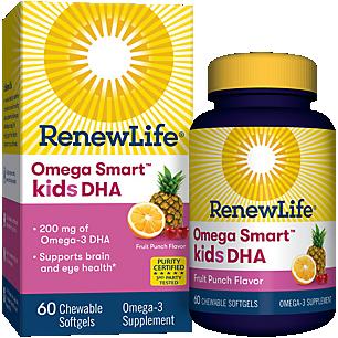 Kids DHA Omega Smart Ultimate Fish Oils - Fruit Punch (60 Softgels)