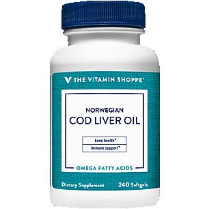 Norwegian Cod Liver Oil Natural Source of Vitamins A & D (240 Softgels)