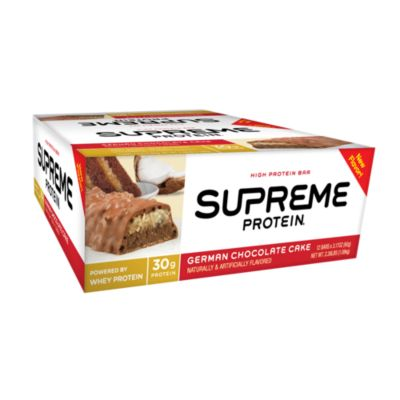 Carb Conscious German Chocolate Cake 12 Bars by Supreme Protein