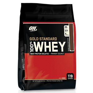 Optimum Nutrition 100% Whey Gold Standard Double Rich Chocolate Powder, 8-lbs