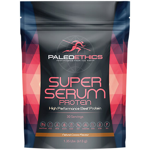 PALEOETHICS Super Serum Paleo Friendly High Performance Chocolate Flavored Beef Protein, Natural Chocolate Flavor, 1.35 lbs, 616 grams