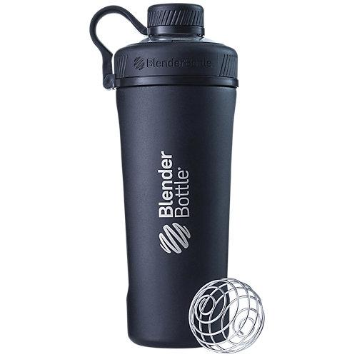 Radian Insulated Stainless Steel Shaker Bottle with Wire Whisk BlenderBall Black (26 fl oz.)