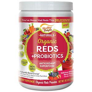 Organic Reds+probiotics (10.5 Ounces Powder)