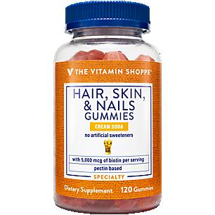 Hair, Skin & Nails Gummies 5,000 MCG per Serving Cream Soda (120 Gummies)
