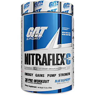 Nitraflex + Creatine Pre Workout Blue Raspberry (16.2 oz. / 30 Servings)