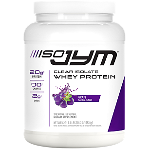 Iso JYM Clear Isolate Whey Protein Grape (1.1 Lbs. / 20 Servings)