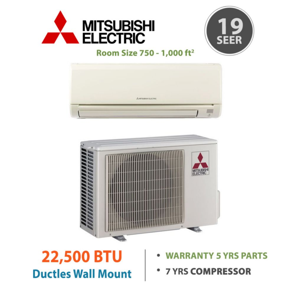 Mitsubishi Mr Slim 22 500 Btu 19 Seer Energy Star Ductless