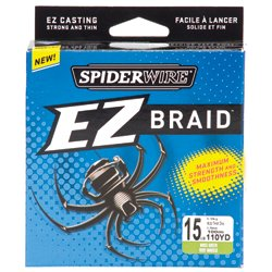 EZ Braid 15 lb - 110 yards Braided Fishing Line
