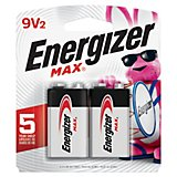 Energizer® Max 9V Batteries 2-Pack