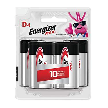 Energizer® Max D Batteries 4-Pack