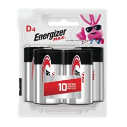 Energizer® Max D Batteries 4-Pack