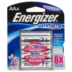 Energizer® Ultimate Lithium AA Batteries 4-Pack