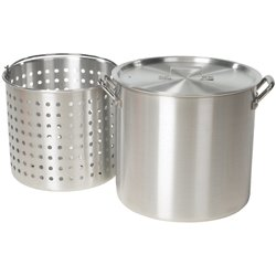 42 qt Aluminum Pot with Strainer