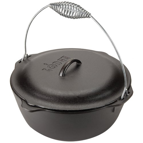 Lodge 7 qt. Traditional Dutch Oven with Wire Bail