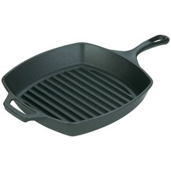 "Lodge 10.5"" Seasoned Square Grill Pan"