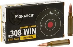 Monarch FMJ .308 Winchester 145-Grain Rifle Ammunition