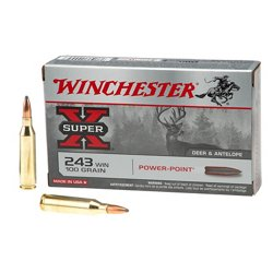 Super-X Power-Point .243 Winchester 100-Grain Rifle Ammunition