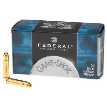 federal game shok no 12 lead bird shot 22 lr 25 grain rimfire