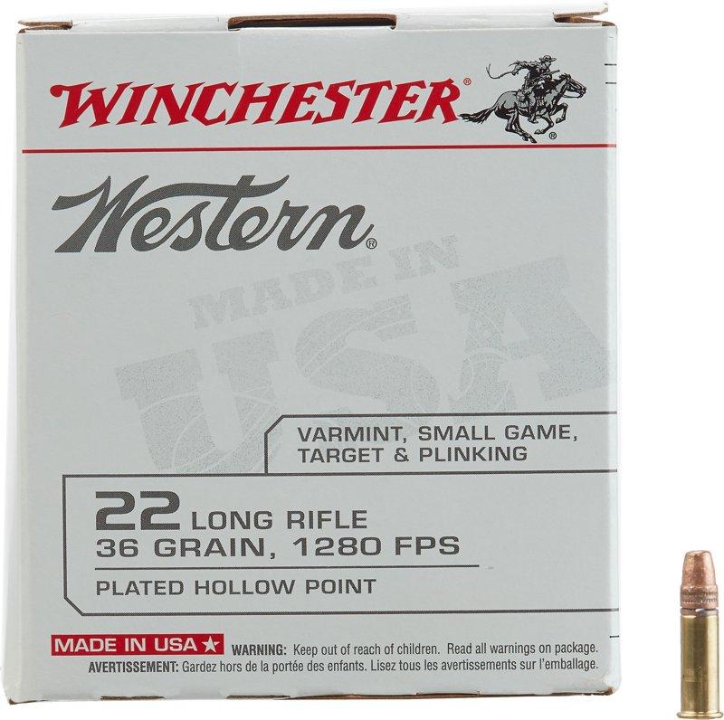 Winchester Western .22 Long Rifle 36-Grain Ammunition – Rimfire Shells at Academy Sports