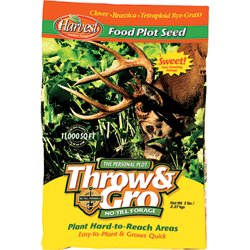 Throw & Gro No-Till Forage 5 lb. Feed Plot Seed