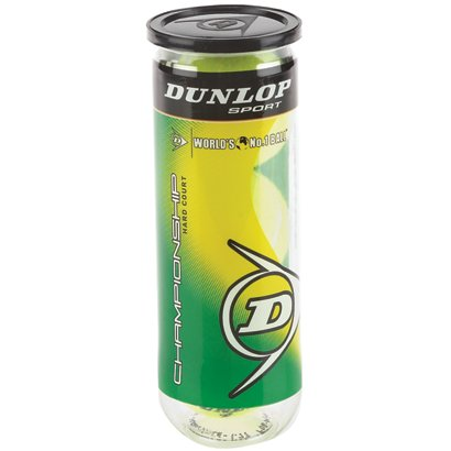 Dunlop Championship Hard Court Tennis Balls 1 Can 3 Pack Academy