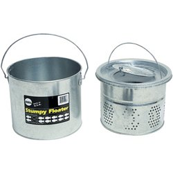 Frabill 8 qt. Galvanized 2-Piece Floating Bucket