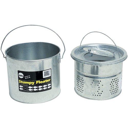 Frabill 8 qt. Galvanized 2-Piece Floating Bucket