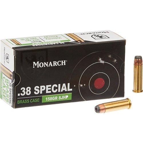 Monarch® SP SJHP .38 Special 158-Grain Pistol Ammunition