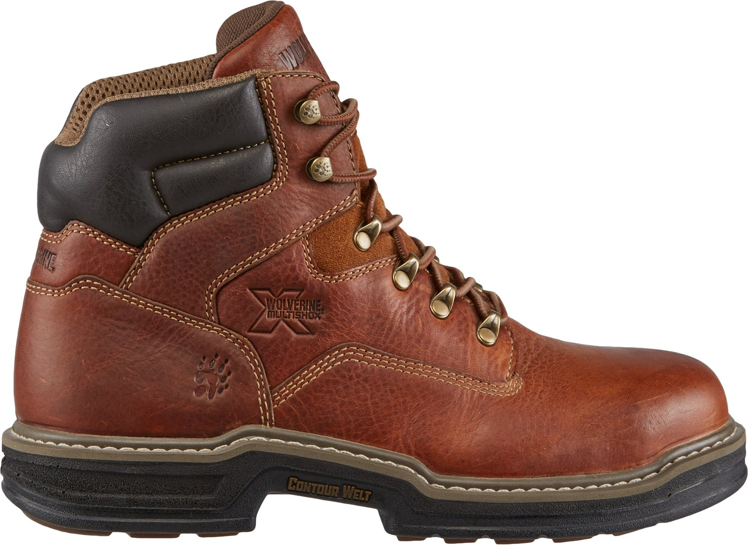 32308ada55d Wolverine Men's Raider EH Steel Toe Lace Up Work Boots