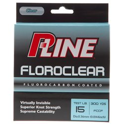 P-Line® Floroclear 15 lb. - 300 yards Fluorocarbon Fishing Line