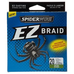 EZ Braid 20 lb - 110 yards Braided Fishing Line