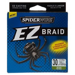 EZ Braid 30 lb - 110 yards Braided Fishing Line