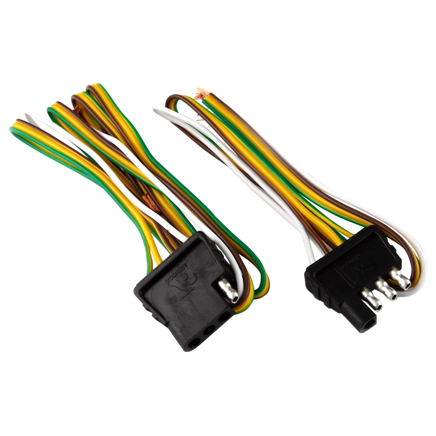 attwood 4 way flat wiring harness kit for vehicles and trailers rh academy com 4 pole flat plug trailer wiring harness