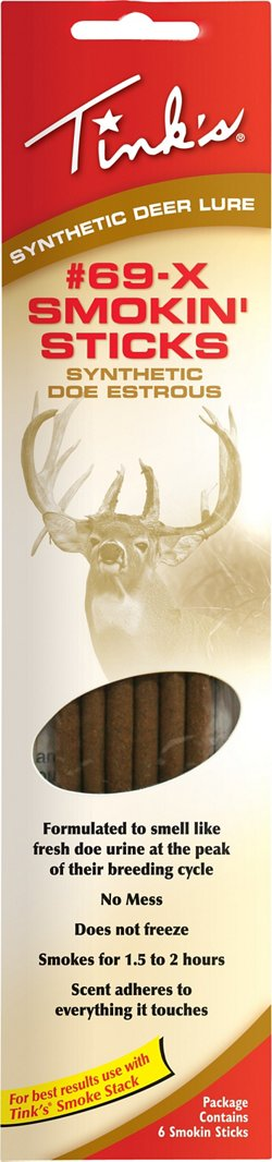 Tink's Deer Lure Rut Smokin' Sticks 6-Pack