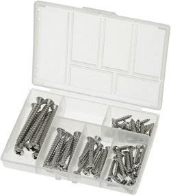 Marine Raider 68-Piece Stainless-Steel Oval-Head Screw Kit