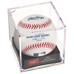 Official MLB Baseball with Display Cube