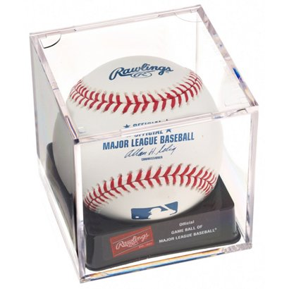 bce6b0721 ... Rawlings Official MLB Baseball with Display Cube. Baseball Essentials.  Hover Click to enlarge