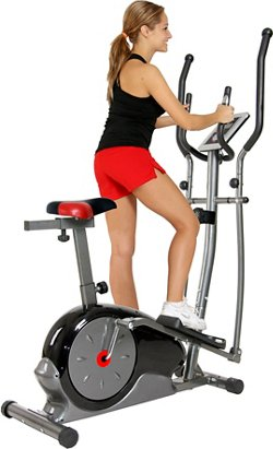 2-in-1 Elliptical/ Upright cycle dual trainer