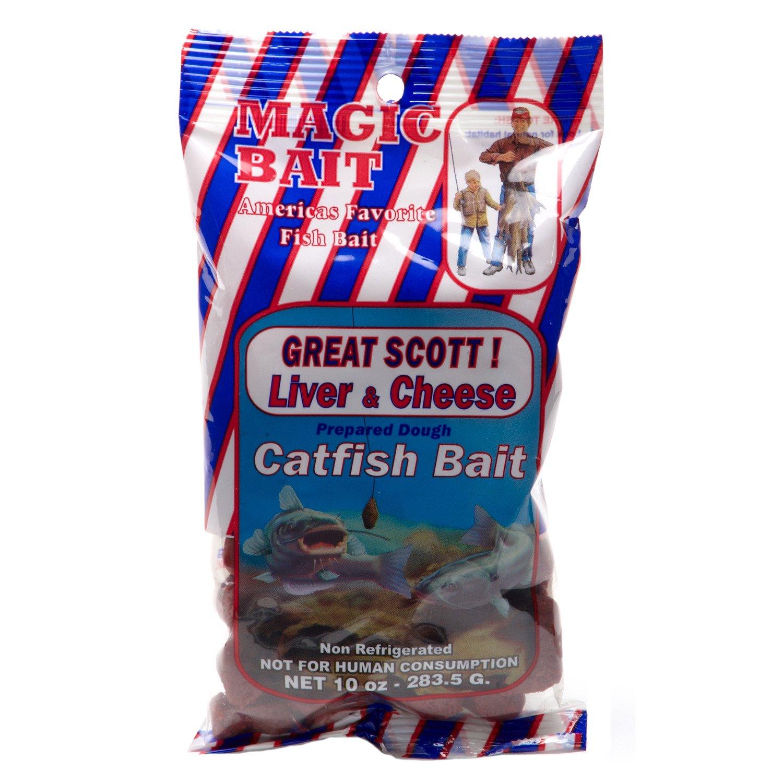 Magic Bait Great Scott! 10 oz. Liver and Cheese Catfish Bait