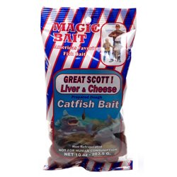 Magic Bait Great Scott! 10 oz. Liver and Cheese Catfish Bait