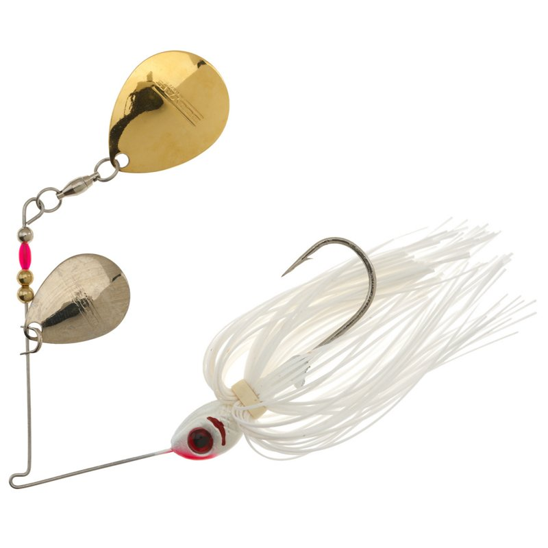 Booyah 3/8 oz Double-Colorado Blade Spinnerbait White – Fishing Tackle And Baits, Fresh Water Wire Baits at Academy Sports