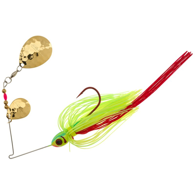 Booyah Tux & Tails 3/8 oz Double-Colorado Blade Spinnerbait Red – Fishing Tackle And Baits, Fresh Water Wire Baits at Academy Sports