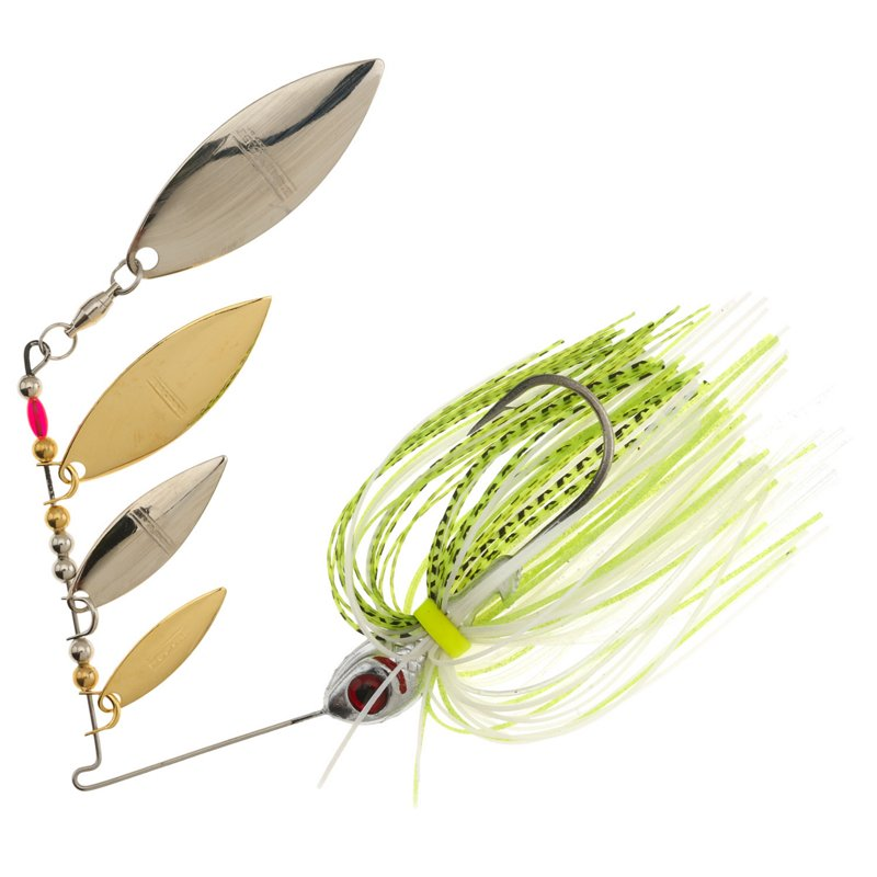 BOOYAH Super Shad 3/8 oz Multi Willow Blade Spinnerbait Chartreuse – Fresh Water Wire Baits at Academy Sports