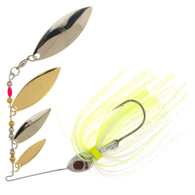 BOOYAH Super Shad 3/8 oz Multi Willow Blade Spinnerbait Silver – Fresh Water Wire Baits at Academy Sports